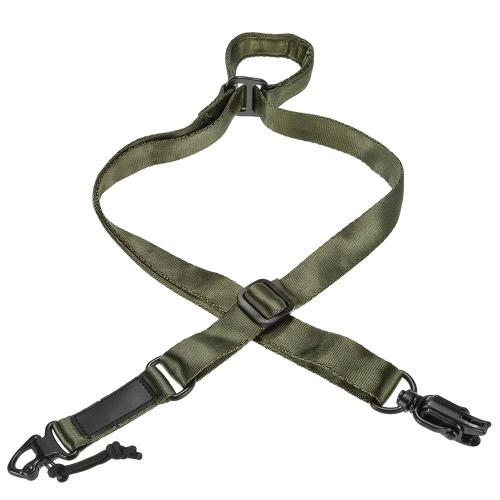 Docooler militare tattico di sicurezza a due punti cintura esterna Carbine Sling cinghia regolabile