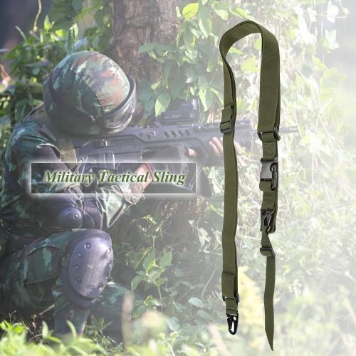 Docooler militare tattico di sicurezza a tre punti Cintura esterna Carbine Sling cinghia regolabile