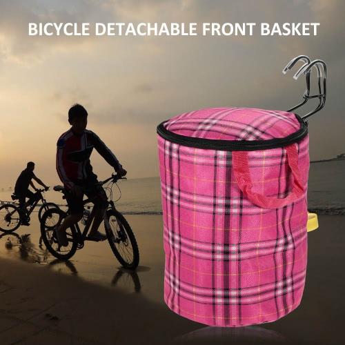 Велосипед Съемные Цикл Холст передняя корзина Carrier Bag стальная рама