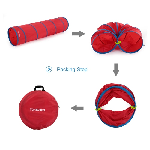 TOMSHOO 5.9 Pies túnel portátil para niños Kids Play Tent tienda al aire libre Jardín plegable surgen el juguete al aire libre del