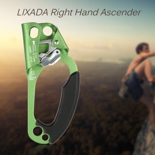 レスキューケイビング8ミリメートル、13ミリメートルロープロッククライミング用のLIXADA右手Ascenderで