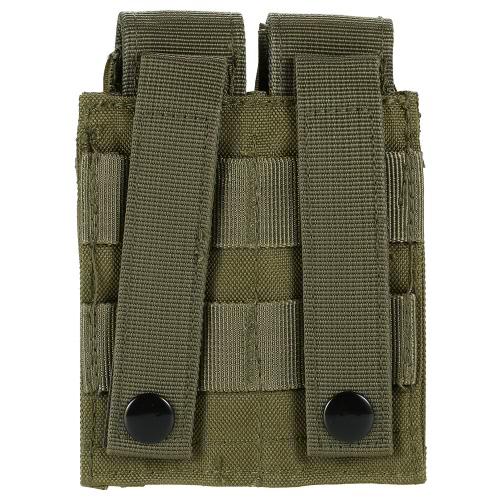 Im Freien taktisches Pistole Gewehr Doppelmagazintasche Gadget Pouch 600D Oxford-Gewebe kompatibel Getriebe