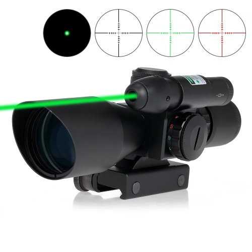 2.5-10X40 Riflescope Green Red Dual Illuminated Reticle Tactical Riflescope Mil-Dot Hunting Scope Sight