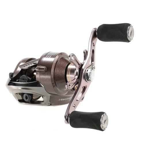 12 + 1BB 6: 3: 1 Izquierda / Derecha Mano Baitcasting Carrete de pesca del bastidor de cebo de pesca Carrete Carrete baitcast