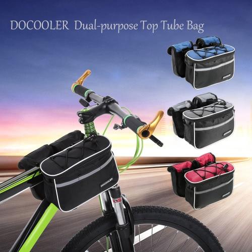 Docooler rimovibile per bicicletta frontale della montatura Borsa tubo della parte anteriore del sacchetto pacchetto cross-body bag