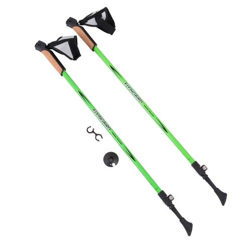 FLYINGBIRD 1 Pair Adjustable Anti Shock Hiking Walking Trekking Walking Poles Sticks Alpenstock