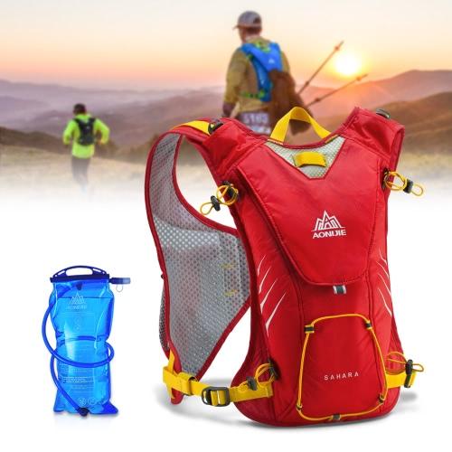 AONIJIE Sport Zaino Outdoor funzionale e spalla Ultralight Racksack unisex di sport del sacchetto di acqua Confezione