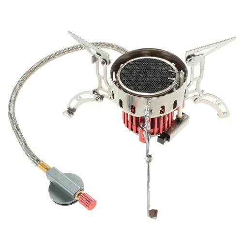 Campeggio esterno infrarossi stufa Ultralight portatile Stufa Fornace pieghevole antivento gas Mini bruciatore per Cookout picnic escursionismo zaino in spalla
