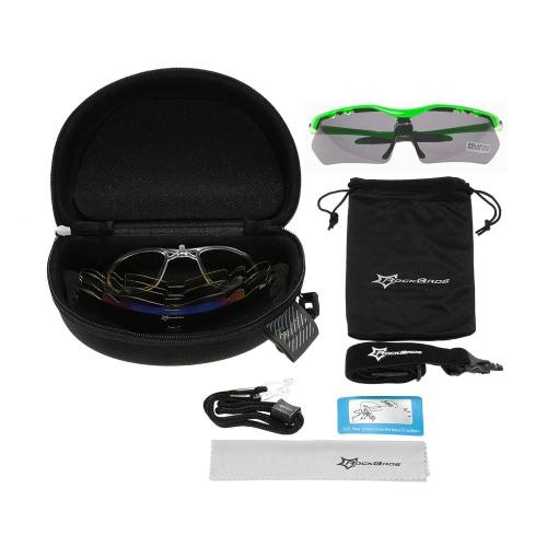 Image of ROCKBROS polarisierte Radfahren Sonnenbrille-Glas-Brillen 100% UV-Schutz-Gläser Goggles Wandern Außen Brillen 5 Objektive