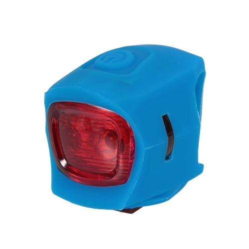 Lámpara Resistente ciclo de silicona de la bicicleta doble de agua de luz LED linterna de luz de advertencia de bicicletas de montaña bicicleta de carretera principal de la lámpara de luz