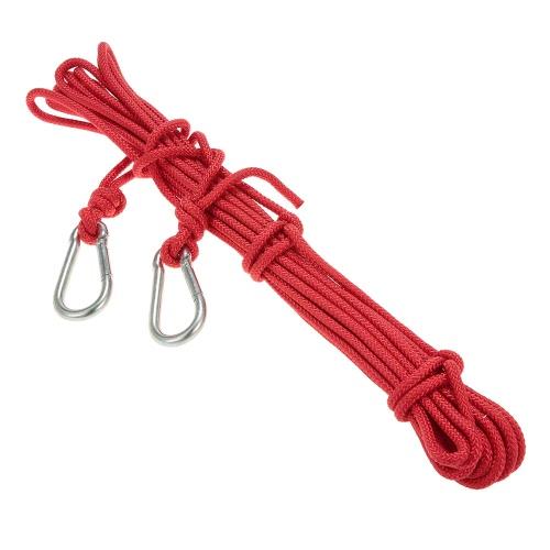 Docooler 6mm * 10m corda di sicurezza esterna professionale ad alta resistenza Rock Climbing Rope Rescue Speleologia Rappelling alpinismo sopravvivenza Accessori Sling Cord con moschettone