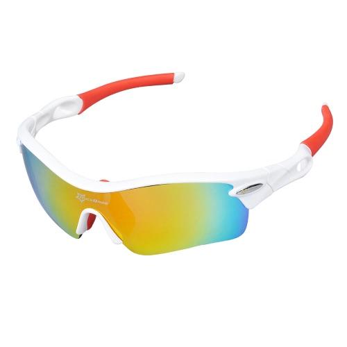 ROCKBROS polarisierter Radfahren Sonnenbrillen Fahrrad-Zyklus-Brillen Bike Sonnenbrillen Outdoor Sportbrillen 5 Objektive