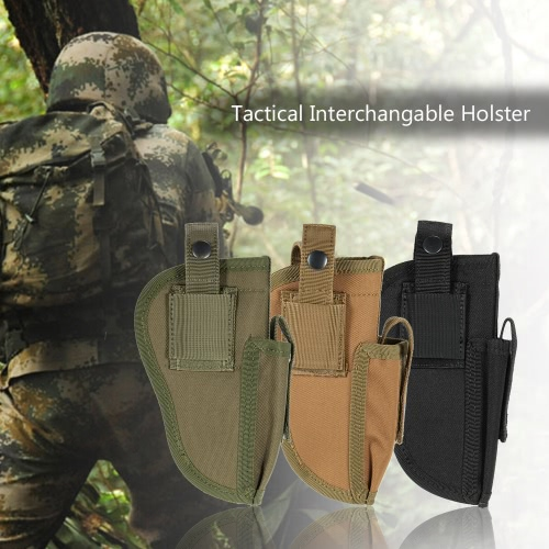 Tactical Outdoor Holster Right Left Interchangable with Mag Pouch Military Gear Accessory Pouch Utility Tool