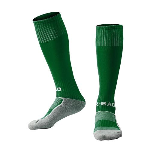 1 Paar Kinder verdicken Baumwolle Fußbett Kniestrümpfe Loom Socken Compression Soft-Fußball-Socken