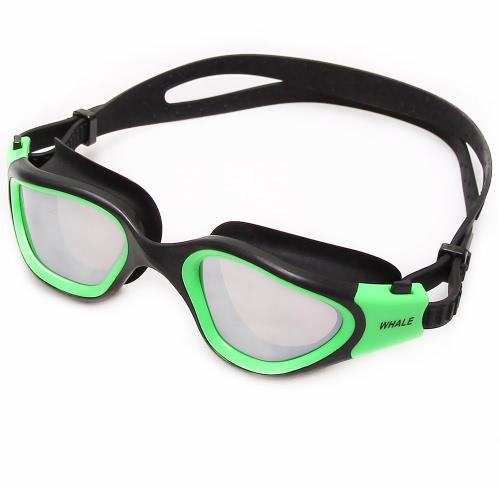 Polarizado anti-vaho UV-protección de las mujeres de los hombres adultos con espejo Recubrimiento baño natación gafas deportivas gafas de natación Gafas Gafas con la caja de almacenamiento