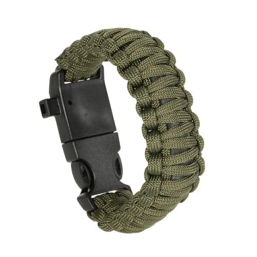 Lixada 2ST Paracord Armband Emergency Kit 19PCS Überlebensausrüstung ultimative Survival Kit inklusive Angeln Gears