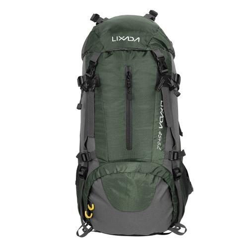 Lixada 50L Water Resistant Outdoor Sport Hiking Camping Travel Backpack Pack Mountaineering Climbing Backpacking Trekking Bag Knapsack with Rain Cover
