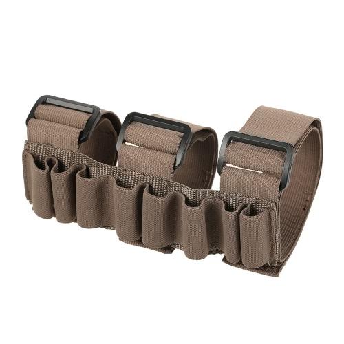 Elastico regolabile 8 rotonda Shotshell Supporto da polso Custodia per Fire avambraccio Holder Sleeve
