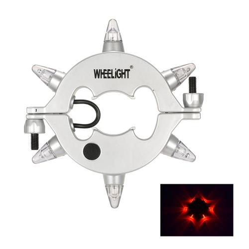 WHEELIGHT 3 modi LED lampada della bici chiaro d'inseguimento per tutto il formato Bike Hub chiaro d'inseguimento nella notte con telecomando