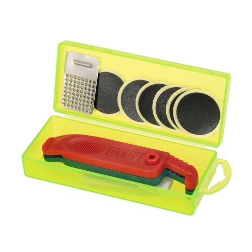 Mini portatile kit di riparazione della bicicletta attrezzo Set di riciclaggio della bici kit di manutenzione degli pneumatici Patch leva con la scatola