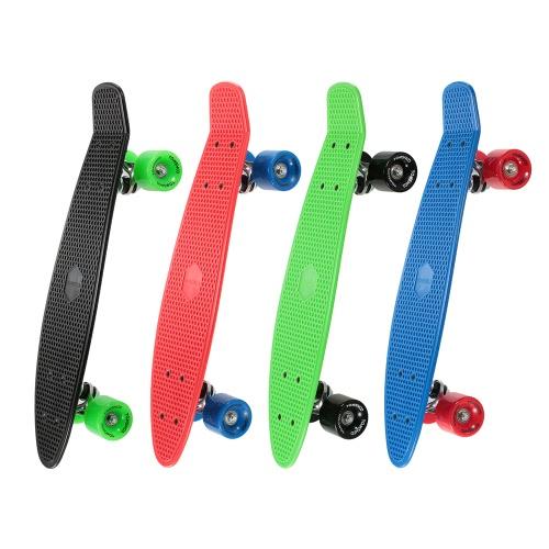 TOMSHOO 22-дюймовый скейтборд Крейсерская доска PU Колеса Скейтборд Полный палубный скейтборд фото