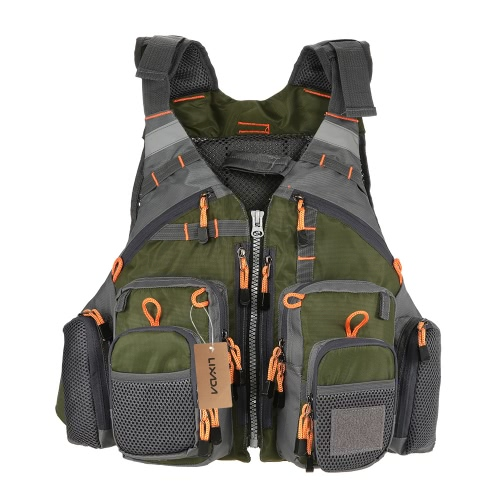 ​Lixada Outdoor Breathable Fishing Life Vest Superior 209lb Buoyancy Life Safety Jacket Swimming Sailing Waistcoat Utility Vest Floatation Floating Device