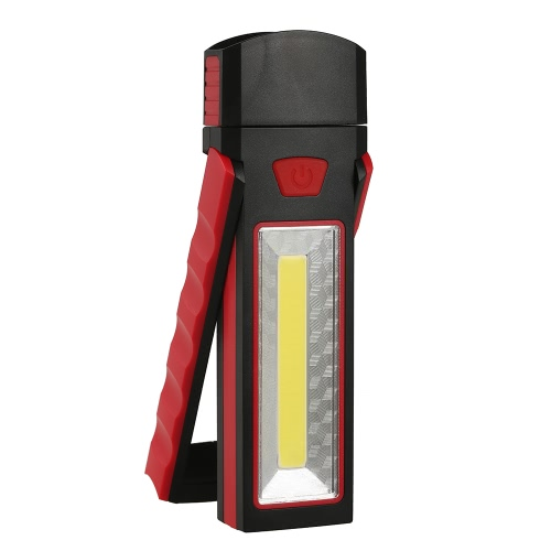 Portable Pocket LED Torcia Luce di lavoro magnetica Luce da 180 gradi di pendenza Stand Torcia