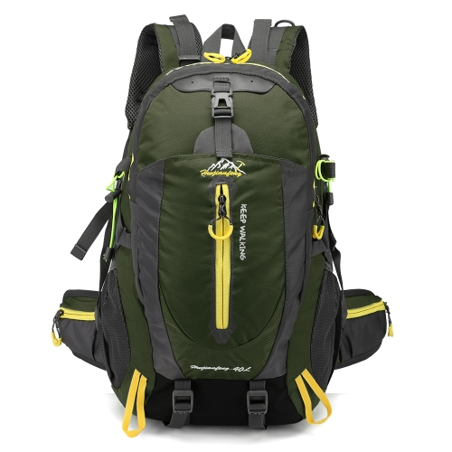 Zaino da viaggio resistente all'acqua da campeggio 40L Escursionismo portatile Daypack Trekking Climb Back Borse per uomini donne