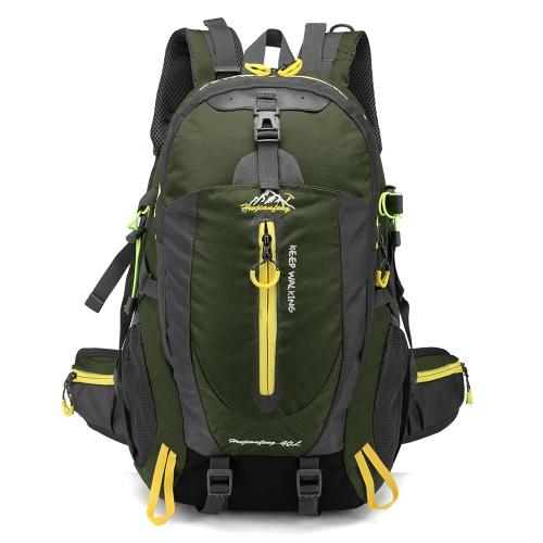40L Водонепроницаемый Travel Backpack Camp Hike Ноутбук Daypack Trekking Back Back Сумки для мужчин Женщины