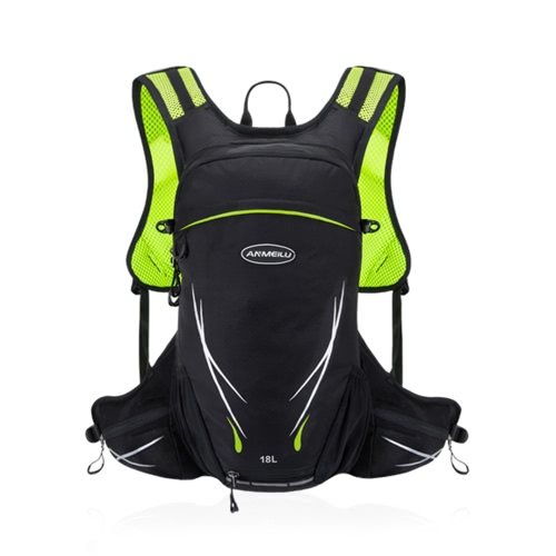 18L resistente al agua transpirable bicicleta de ciclismo de bicicleta mochila mochila portátil de deportes al aire libre de viaje alpinismo hidratación bolsa de agua con cubierta de lluvia