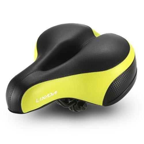 Lixada Wide Sella Bicicletta MTB Mountain Bike Sede Sedile Bike Sella Cuscino Sella con Adesivo Riflettente