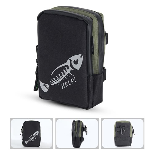 Bolso de la pesca con mosca portátil mini trastos de pesca bolso del engranaje bolsillo bolsa de pesca trastos al aire libre bolsa de deporte