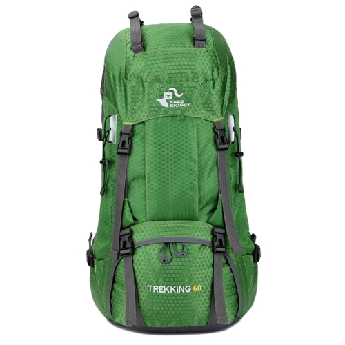 Cavaliere libero 60L escursionismo zaino alpinismo Camping Trekking borsa da viaggio Struttura interna grande capacità Resistente all'acqua per l'esterno con copertura a pioggia