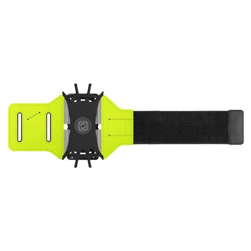 Supporto telefonico per banda di braccio a braccio aperto per bracciali telefonici per allenamenti con armadio a cavi portachiavi