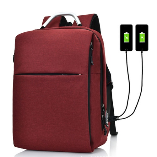 Business Laptop Travel Rucksack mit 2 USB Plug Ladestationen