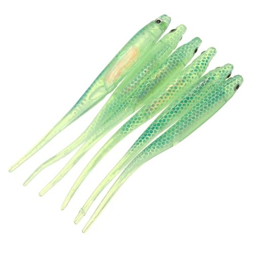 La pesca morbida di pesca di tipo del pesce di Lixada 6PCS 9cm 3g pesca l'attirazione molle di pesca di mare molle dell'esca di richiamo molle degli occhi 3D