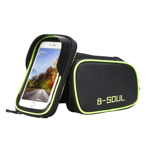 Bike Top Tube Phone Bag Bicycle Cycling Front Frame Bag Mobile Phone Holder Pouch Bike Phone Attachment Mount Image