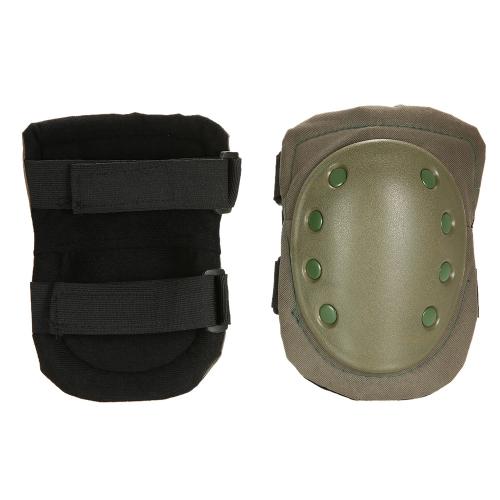 Lixada 2PCS Heavy Duty Outdoor Advanced Pad protettiva Pad Ginocchiere pattinaggio regolabile per Paintball