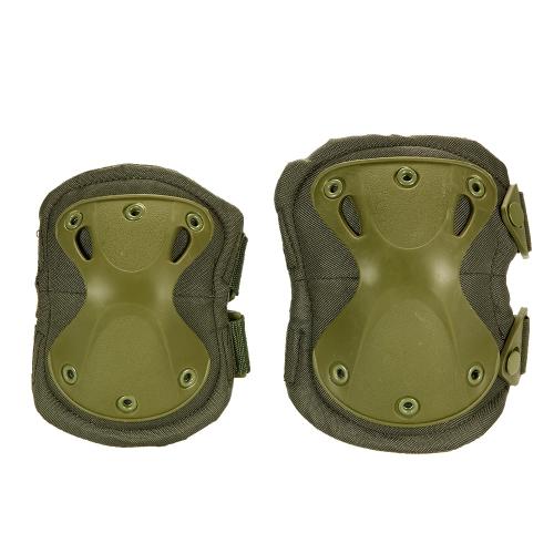 Lixada 4PCS Heavy Duty Outdoor Set di protezioni avanzate con ginocchiere e gomitiere per Paintball Airsoft Skate Knee Skate regolabili
