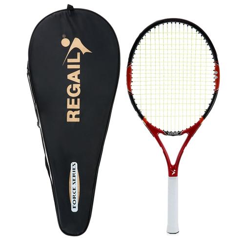 Racchetta da tennis allenamento all'aperto coperta da allenamento con racchetta da tennis in carbonio da 1 pezzo