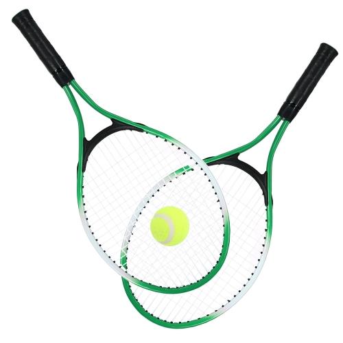 2Pcs Теннисные ракетки для теннисных ракет с теннисным тентом с 1 теннисной мячиком и сумкой для багажа фото