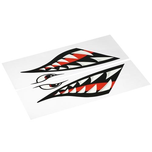 2PCS Fish Mouth Sticker Barca da pesca Canoa Car Truck Kayak Accessori grafici