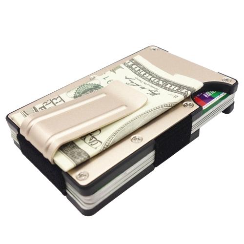 Männer Ultra Light Metal Kreditkarte ID Slim Geldscheinklammer Geldbörse