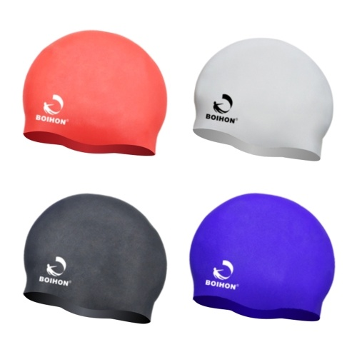 High Elastic Silicone Swimming Cap Waterproof Comfortable Hair Care Protect Ears  Ultra Stretch Swimming Hat