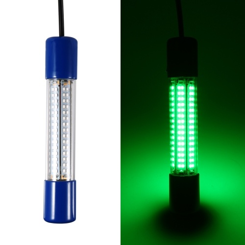 8W 180 LED Subacqueo Night Fishing Light Lampada sommergibile LED Esca Pesce calamaro che attira luce Fish Finder Light con 18 piedi di cavo