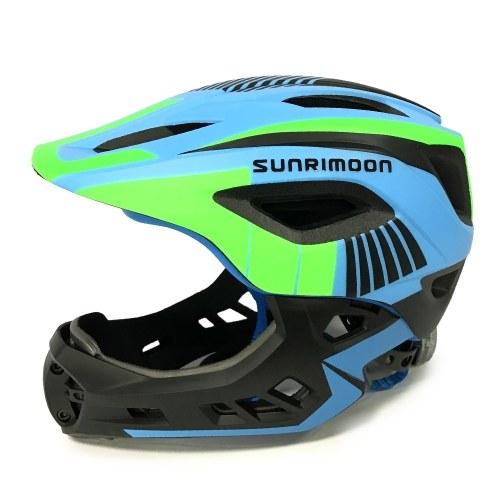 Protezione completa di sport di pattinaggio in linea del casco del pattino di guida del casco dei bambini del casco di sicurezza del bambino con il mento staccabile