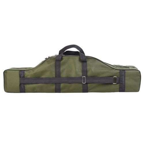 80cm Portable Double-layer Fishing Rod Bag Fishing Reel Tackle Carrier Storage Case Fishing Accessories Organizer Bag thumbnail