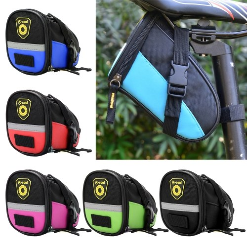 Cycling Saddle Bag MTB Bike Bicycle Seat Bag Repair Tools Pouch Pack with Reflective Strip Image