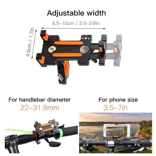Bike Phone Holder MTB Phone Mount Adjustable Cycling Phone Cradle 3.5 to 7IN Phone Clamp 360¡ã Rotatable Phone Rack Image