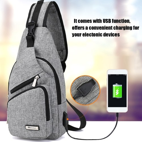 Portable Chest Bag with USB Port фото